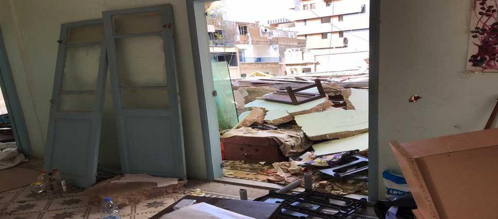 Interno delle case danneggiate - Beirut 2020